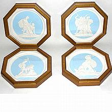 Set of Four Russian Plaster Medallions