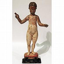Continental Polychrome Figure of an Infant