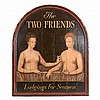 Painted Trade Sign   Modern Titled The Two Friends/ Lodging for Seamen.
