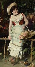 Francesco Vinea Italian, 1845-1902 Flower Girl, 1884