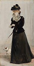Jean-Francois Raffaelli French, 1850-1924 Elegante au Chien