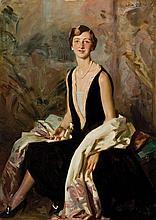 Wilfrid Gabriel de Glehn British, 1870-1951 Portrait of a Lady, Said to be Ruth Peck, circa, 1925   Signed W. G...