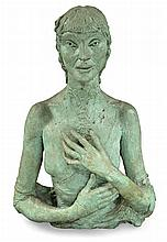 Sir Jacob Epstein British, 1880-1959 Fifth Portrait of Kathleen (Half-length with hands)   Executed in 1935 (one o...