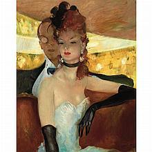 Jean-Gabriel Domergue French, 1889-1962 La Loge de l'Opera