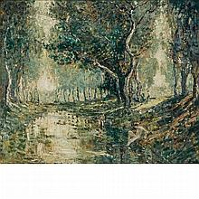 Ernest Lawson American, 1873-1939 The Bathers  Signed E. Lawson (ll) Oil on canvas 20 x 24 inches  Pro...