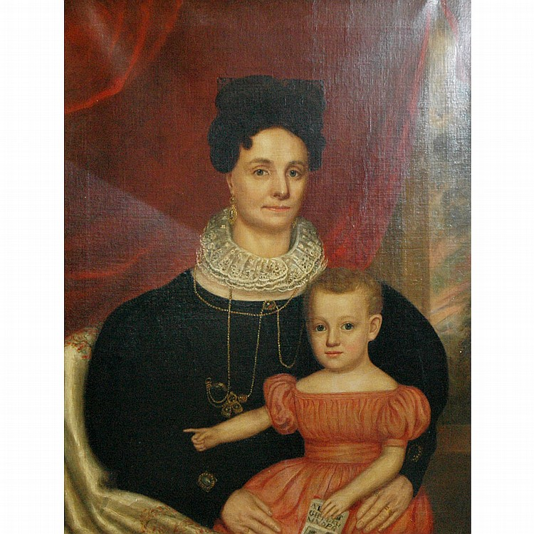 Attributed to William Hillyer Mother and Child