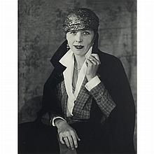 ABBOTT, BERENICE (1898-1991) [Djuna Barnes, Man Ray's Studio, Front View].