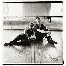 ARBUS, DIANE (1923-1972) Erik Bruhn and Rudolph Nureyev NYC 1963. Gelatin silver print, 14 1/2 x 13 3/4 inches (368 x 355 mm...
