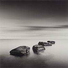 BURDENY, DAVID (b. 1968) Eight Piles, 2004 and Four Boulders, Japan 2005, two archival pigment prints, both 13 x 13 in...