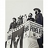 CORRALES, RAUL (b. 1925) [Three Commandants; Fidel and Raul Castro and Che Guevara]. Gelatin silver print, 13 1/8 x 10 inche...