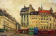 Arbit Blatas Lithuanian, 1908-1999 Street Scene, Paris