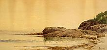Alfred Thompson Bricher American, 1837-1908 Quiet Morning Along the Coast