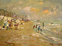 Andre Chalet French, b. 1954 Beachgoers: Two