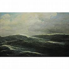 European School 19th/20th Century Crashing Waves