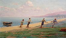 Vassilios Ithakissios Greek, 1878-1977 Beaching the Boat