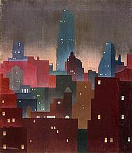 J. Banigan Sullivan American, 20th Century City at Night