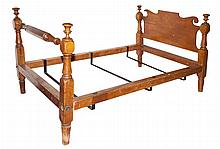 American Classical Fruitwood Bedstead