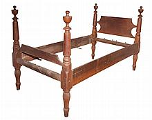 American Classical Stained Wood Twin Bed