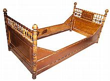 Faux Bamboo Twin Bedstead