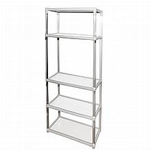 Modern Style Lucite and Painted Wood Five-Tier Etagere