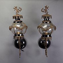 Pair of Louis XVI Style Spelter Sconces