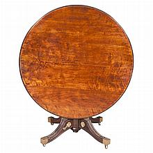 Neoclassical Style Gilt-Metal Mounted Mahogany Tilt-Top Center Table