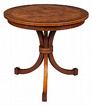 Regency Style Burlwood and Rosewood Occasional Table