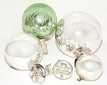 Group of Six Glass Ornaments