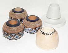 Group of Five Ceramic Match Strikes