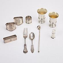 Miscellaneous Group of Sterling Silver Flatware and Napkin Rings