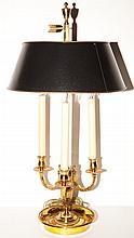 Empire Style Gilt-Metal Bouillotte Lamp
