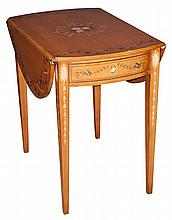 George III Style Paint Decorated Maple Pembroke Table