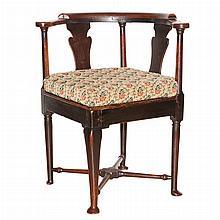 Georgian Style Oak Corner Chair