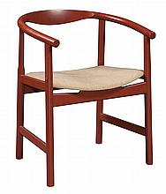 Hans Wegner Painted Wood and Upholstered Chair