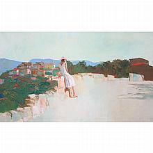 Nicola Simbari Italian, 1927-2012 The Pink Hat, 1965