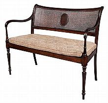 Edwardian Style Mahogany Stained Settee
