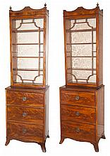 Pair of George III Style Mahogany Cabinets