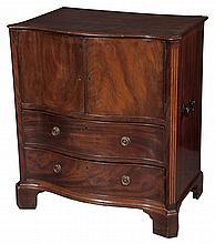 George III Mahogany Pot Cupboard