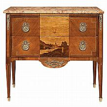 Northern European Marquetry Commode