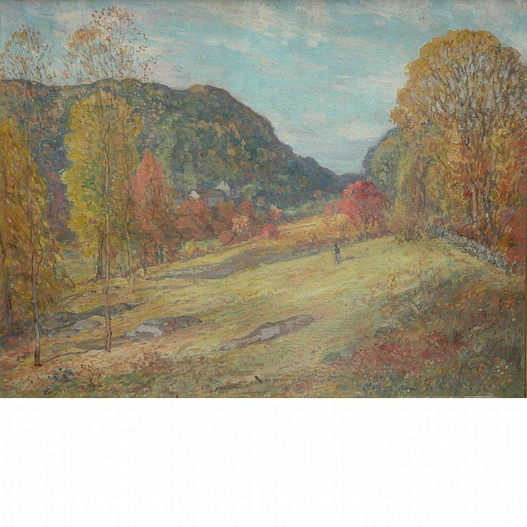 American School 20th Century Autumn Afternoon