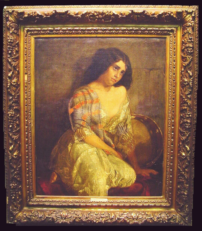 Thomas Couture French, 1815-1879 TZIGANE