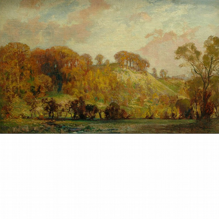 Sir Alfred East English, 1849-1913 An Autumn Landscape