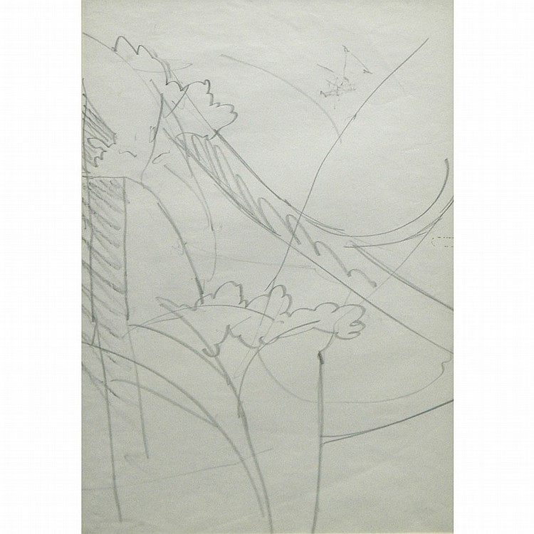 Charles Ephraim Burchfield American, 1893-1967 Landscape Study: Three