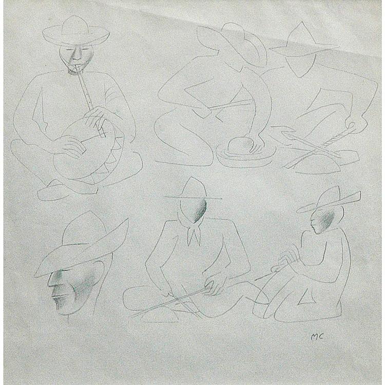 Miguel Covarrubias American, 1904-1957 Musicos