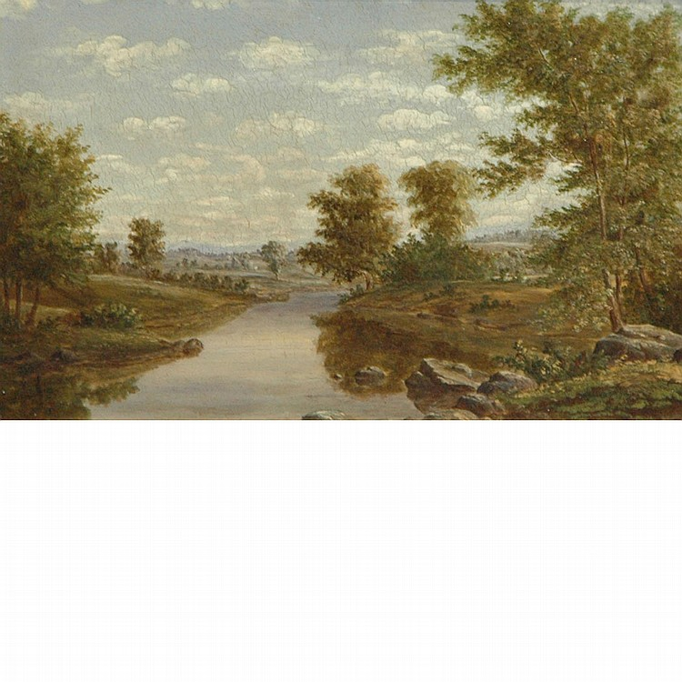 British School 19th Century River Landscape