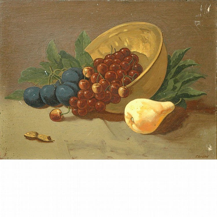 American School 20th Century Still life with a Bowl of Fruit