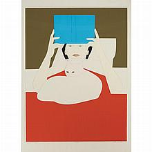Will Barnet WOMAN READING Color screenprint