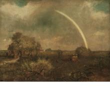Charles Henry Miller American, 1842-1922 Long Island Landscape with Rainbow, 1904