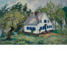 Richard Hayley Lever American/Australian, 1876-1958 House with Blue Shutters, Caldwell, NJ, 1932