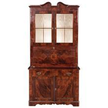 American Restauration Mahogany Secretary Bookcase